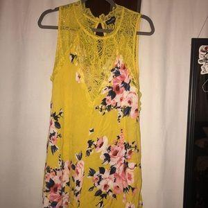 Floral & Lace Mini Dress